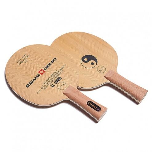 Tischtennis Holz DING YI - YIN YAN - + Carbon Light