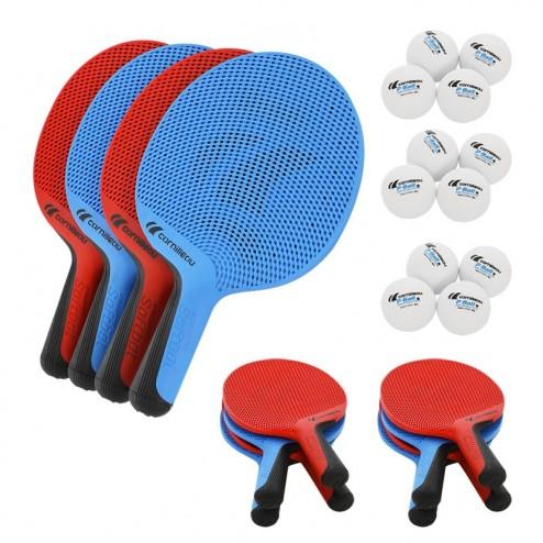 Outdoor Tischtennisschläger Set Schulen (12 Schläger & 12 Bälle)
