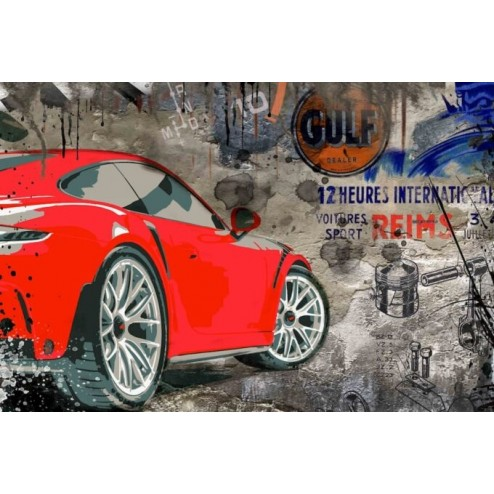 Porsche GT3 Wallart 3D Kunstbild