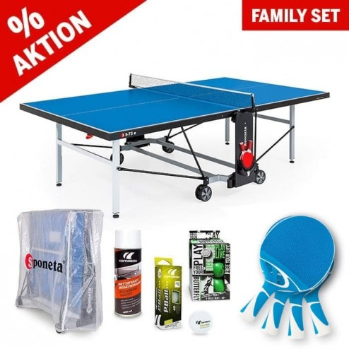 "Tischtennistisch Familien Set ""All in one"" blau"