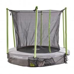 Dunlop Trampolin mit Sicherheitsnetz 305 cm (grau-grün)