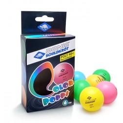 Farbige Tischtennisbälle 6 Stk.