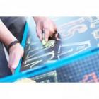 Kettler Sketch Pong - mit Kreide die TT-Platte verschönern