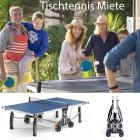 Tischtennis Material für Event mieten
