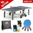 """Tischtennistisch Familien Set """"All in one"""" grau"""