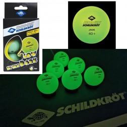 6 Tischtennisbälle (fluoreszierend)