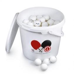 144 Tischtennisbälle Pro ABS inkl. Eimer/Deckel