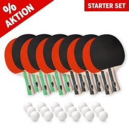 Tischtennisschläger Starter Set (12 Schläger und 18 Bälle)
