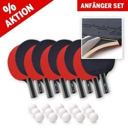 Tischtennisschläger Anfänger Set (10 Schläger und 15 Bälle)