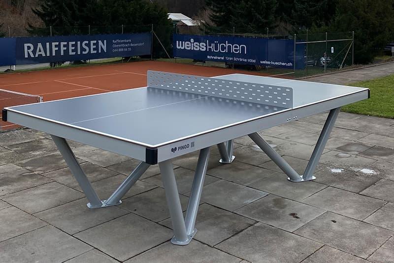 Beton Tischtennistisch Wird Durch Park Tisch Abgelost