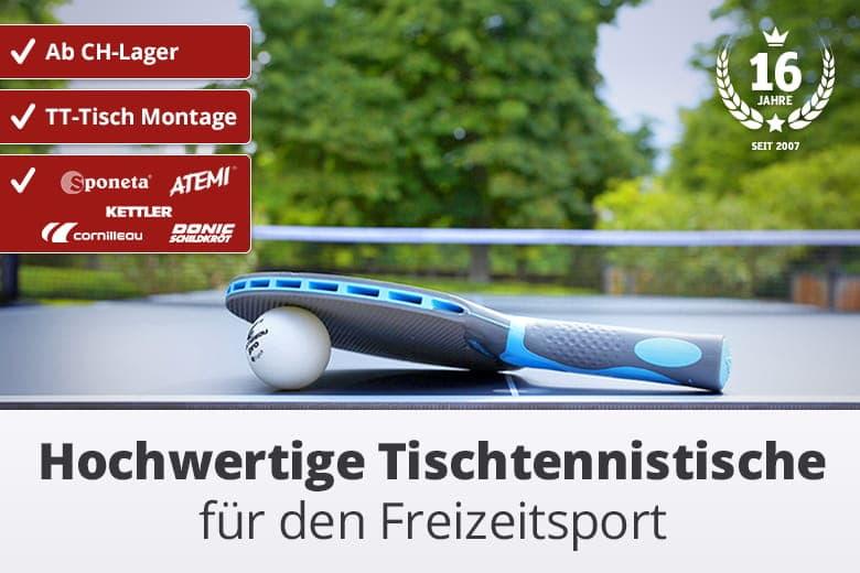 Outdoor Tischtennistische für den Freizeitsport.